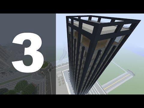 Minecraft Let's Build : 70's Style Skyscraper - Part 3