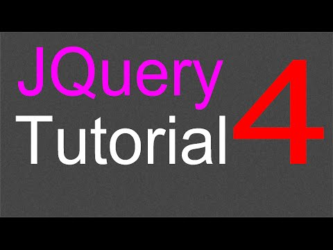 JQuery Tutorial for Beginners - 4 - Click method