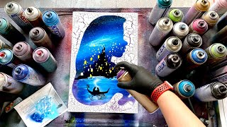 TANGLED - SPRAY PAINT ART by Skech - GLOW IN THE DARK