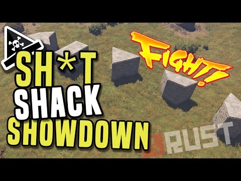 RUST STARTER BASE SHOWDOWN - Rust shacks for early game - base building guide