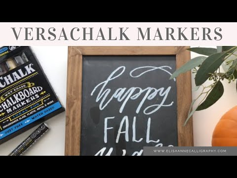 How to Use VersaChalk Chalkboard Markers to Hand-Letter a Fall Menu || DIY & Hand-Lettering Tutorial