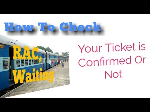 how to check my ticket is confirmed or not by PNR NO