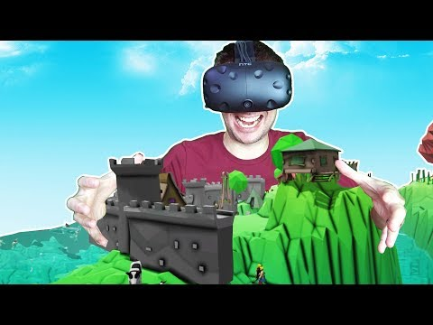 Molding an Entire World With Your Bare Hands as an All Powerful God! - The God VR HTC VIVE Gameplay