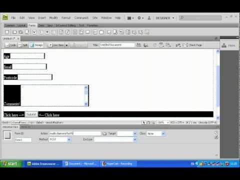 How to make a feedback form in adobe dreamweaver