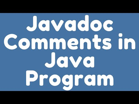 How to use Javadoc Comments in Java program for Documentation ?.