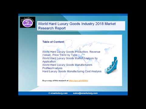 World Hard Luxury Goods Market Research Report 2018