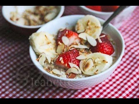 Breakfast Coconut Milk Quinoa with fresh fruit