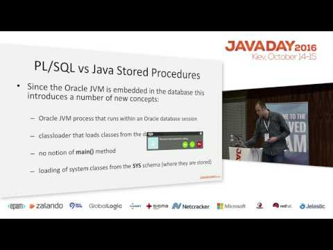 JavaDay Kyiv 2016: Writing Java stored procedures in Oracle RDBMS (Martin Toshev)