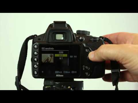 How to set the ISO on the Nikon D3200