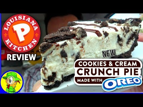 Popeyes® | Cookies & Cream Crunch Pie Made with Oreo® Review! ⚜🍪