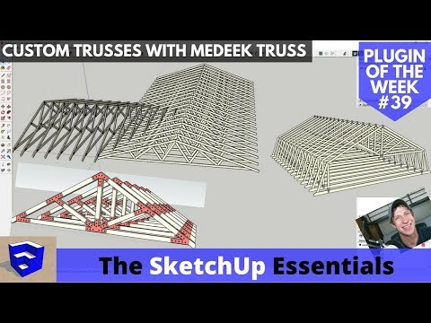 Model Trusses Quickly and Accurately with Medeek Truss - SketchUp Extension of the Week #39