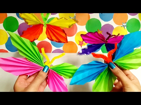 Paper Butterflies - Make Your Own - Learn Colour + Shapes