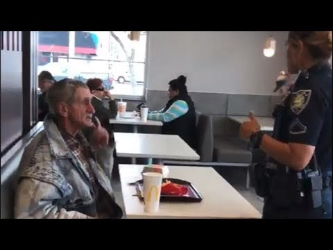 Homeless man thrown out of McDonald's for eating food he bought there