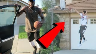 DRIVE-BY DUNK CHALLENGE! ALMOST WENT WRONG! W/ LSK Jesser TD & Malcom