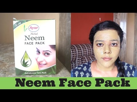 Ayur Herbal Face Pack Review & Use/ Neem Powder for face/ Ayur Neem Face Pack First Impression