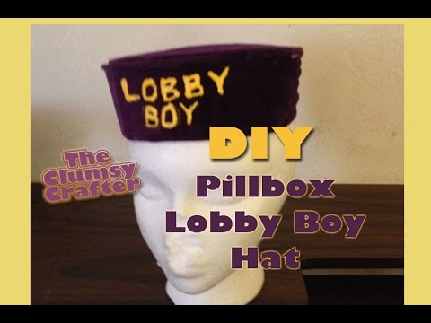 DIY Pillbox Hat - The Grand Budapest Hotel - NO SEW PROJECT