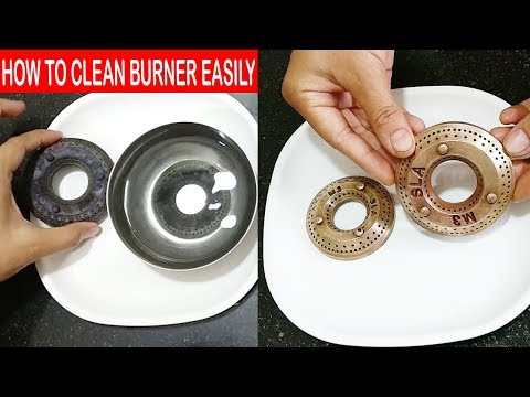 CLEAN YOUR GAS STOVE BURNER EASILY