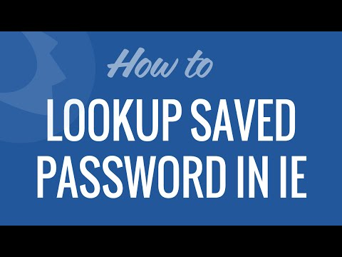 Lookup Saved Password in Internet Explorer