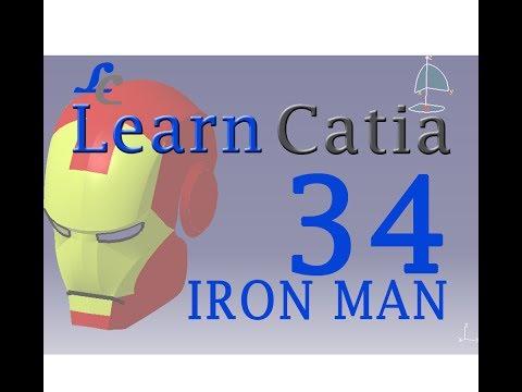 Learn catia V5 Tutorials for beginners  IRON MAN HELMET