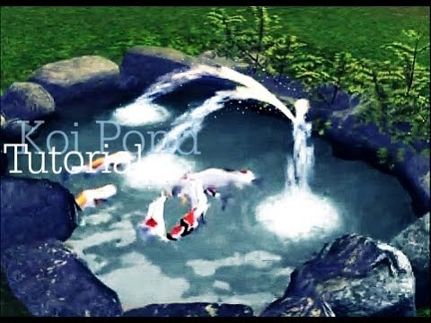 How to make a Koi pond in Sims 3