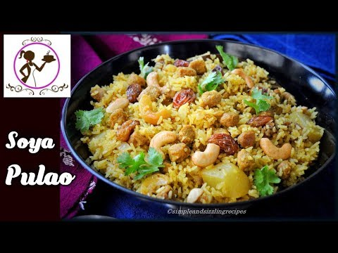 Soya Pulao Recipe - সয়াবিন পোলাও | Healthy and Tasty Soya Bean Pulao | Soya Chunks Polao Recipe