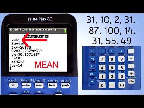 TI 84 Plus CE Mean Median Mode Range