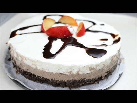 NO Bake Double Layer Chocolate Mousse Cake without Oven