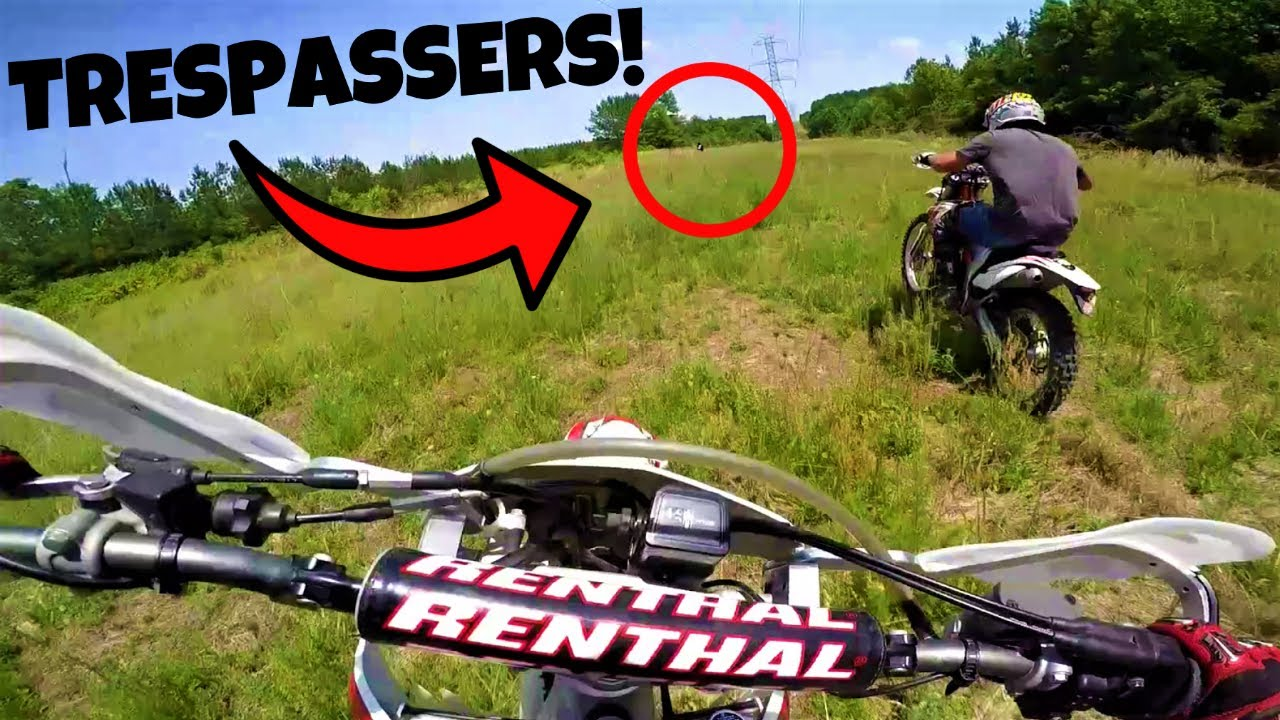 DIRT BIKERS CHASE DOWN TRESPASSER!