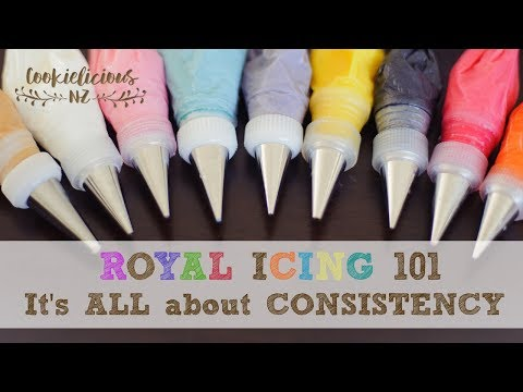 How to get the right Royal Icing Consistency EVERY TIME! - ROYAL ICING 101
