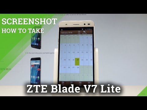 How to Take Screenshot on ZTE Blade V7 Lite |HardReset.info