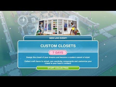 Simsfreeplay - Custom Closets Live Event