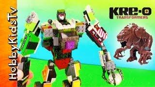 Kre-O Transformer Robot Battles Star Wars Rancor Toy Review Box Open by HobbyKidsTV