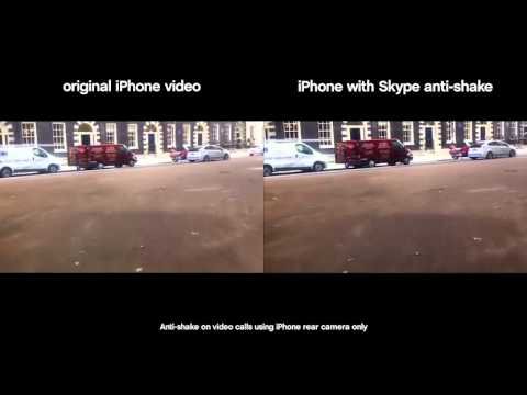 Skype for iPhone anti-shake video calls