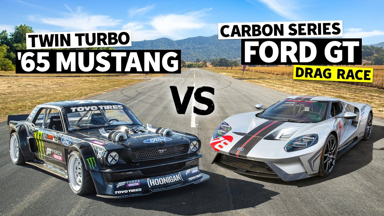 Iconic Ford Battle: Ford GT Carbon Edition Vs 1,400hp AWD Mustang // Hoonicorn Vs the World