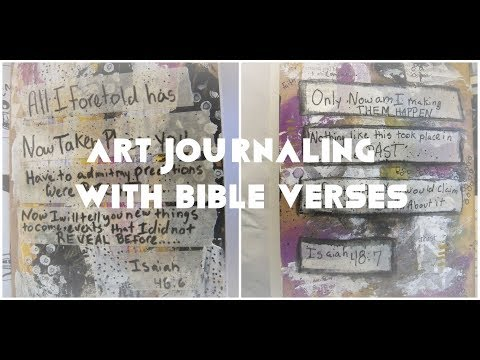 Art Journaling with bible verses / Art journal ideas for beginners/ art journaling  with scriptures