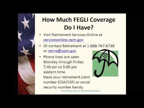 Your FEGLI Life Insurance for Annuitants and Retiring Employees