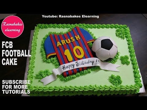 F C barcelona Football:kids birthday cake video