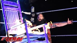 The Undertaker responds to Bray Wyatt's WrestleMania challenge: Raw, March 9, 2015