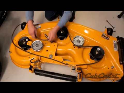 How to Change the Deck Belt on a Cub Cadet Zero Turn Riding Lawn Mower  Using Model 17AF9BKP010