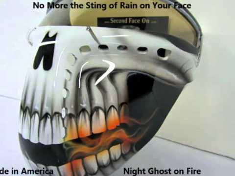 Motorcycle custom art non fogging Plastic hard face mask