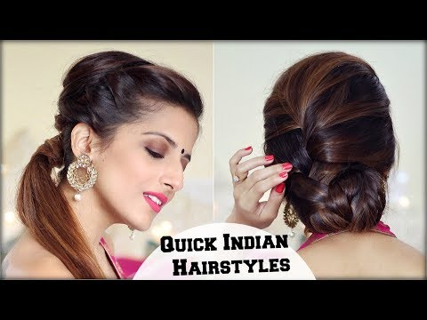2 ELEGANT Indian Hairstyles With A Puff For Diwali For Medium To Long Hair/ Indian Wedding Occasions