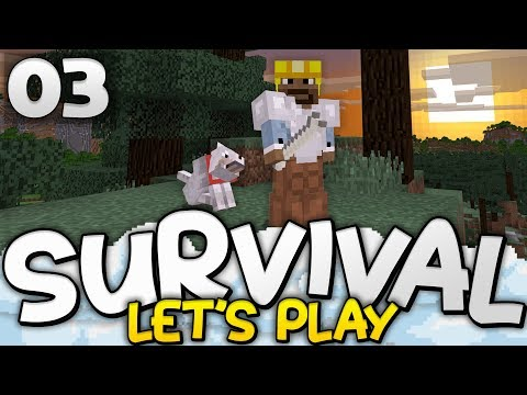 WELCOME TO THE FAMILY! - Survival Let's Play Ep. 03 - Minecraft Bedrock (PE W10 XB1)