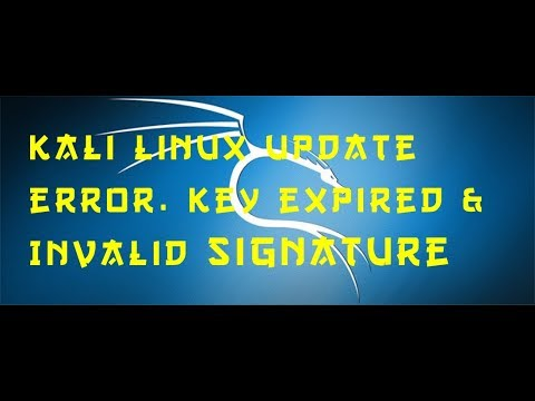 How to solve Kali Linux unable to update due to