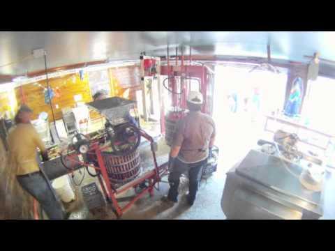 Hansens Apple press Cider Making  gopro time lapse