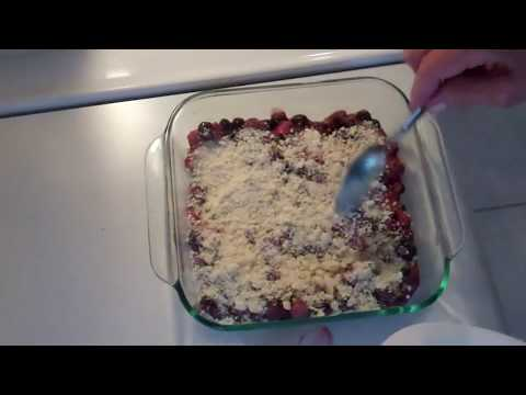 Strawberry Blueberry Cobbler