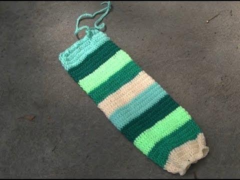Crochet Plastic Bag Holder Tutorial