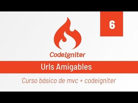 Codeigniter: 6-. Urls Amigables
