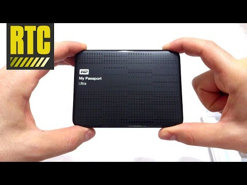 External Hard Drive WD My Passport Ultra 1 TB Portable Disk Storage