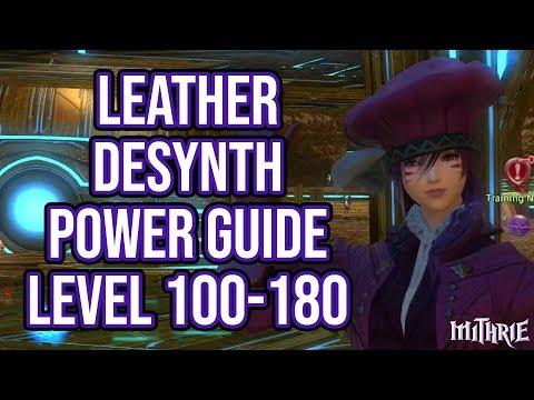 FFXIV 3.3 0908 Leatherworker Desynth 100-180 (Powerlevel Guide)