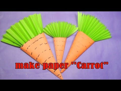 how to make beautiful paper carrot | easy DIY origami tutorial